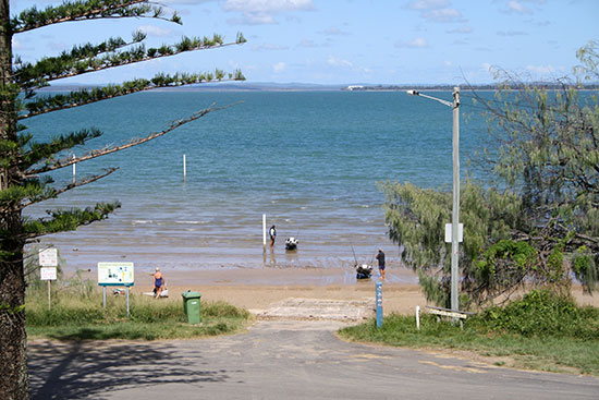 There are a number of large and small boat ramps along the waterfront in Hervey Bay. Some, like this one, are tidal.