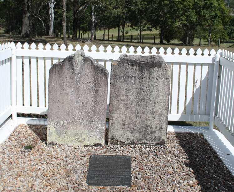 The earliest grave site was this one. Honoraria Furber was laid to rest here in 1850 and was joined by her husband and son-in-law in 1855