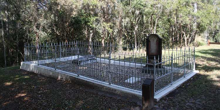 William McAdam's grave from 1860 is on the left while Sarah Bridget Shea's grave from 1851 is on the right.