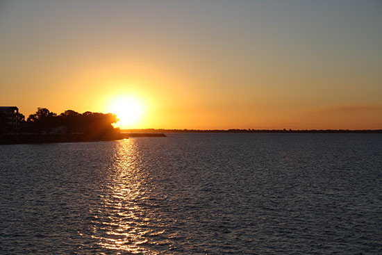 Living in Hervey Bay means that you get to see stunning sunsets too.