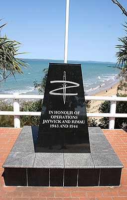 The Z Force Memorial at Dayman Park in Hervey Bay
